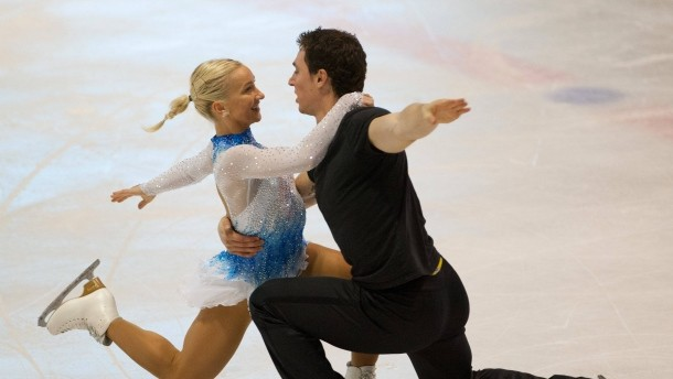 Aliona Savchenko and Bruno Massot.